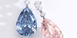 "Jewelery auctions in Geneva, Switzerland: Sotheby's presents the most valuable earrings ""Apollo & Artemis Diamonds"" for sale"