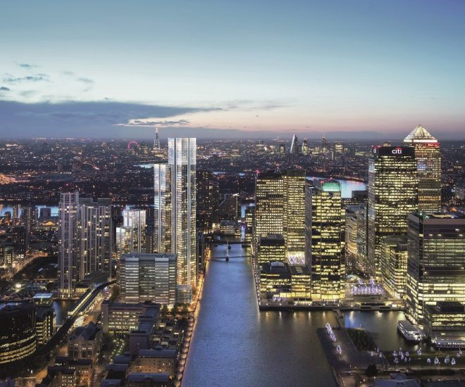 london invest properties berkeley homes south quay plaza aerial view
