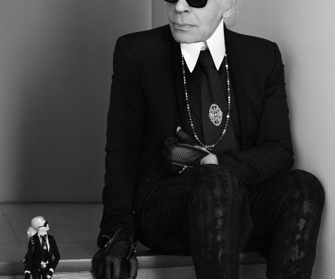 Karl Lagerfeld with Barbie