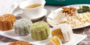 A selection of some unusual mooncakes from Asia