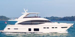 Award winning Princess 75 by Princess Yachts will be on display at the Singapore Yacht Show 2017
