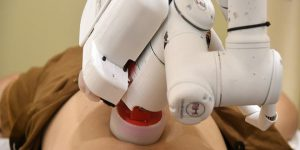 Emma the Robot Masseuse gets to work in Singapore